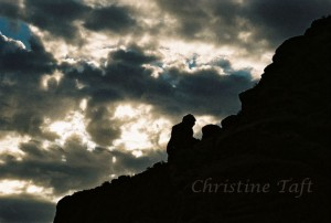 photograph of the 'Praying Monk' on Camelback Mtn. in Phoenix