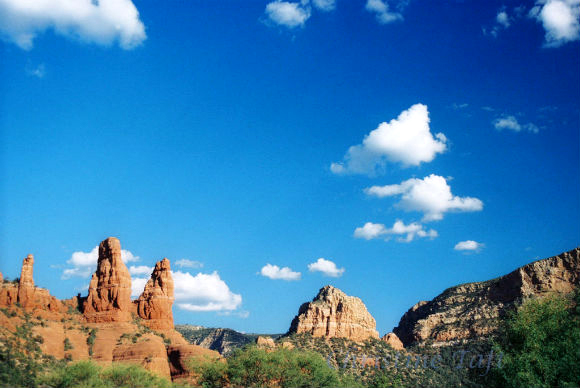 Photograph of Sedona's red rocks